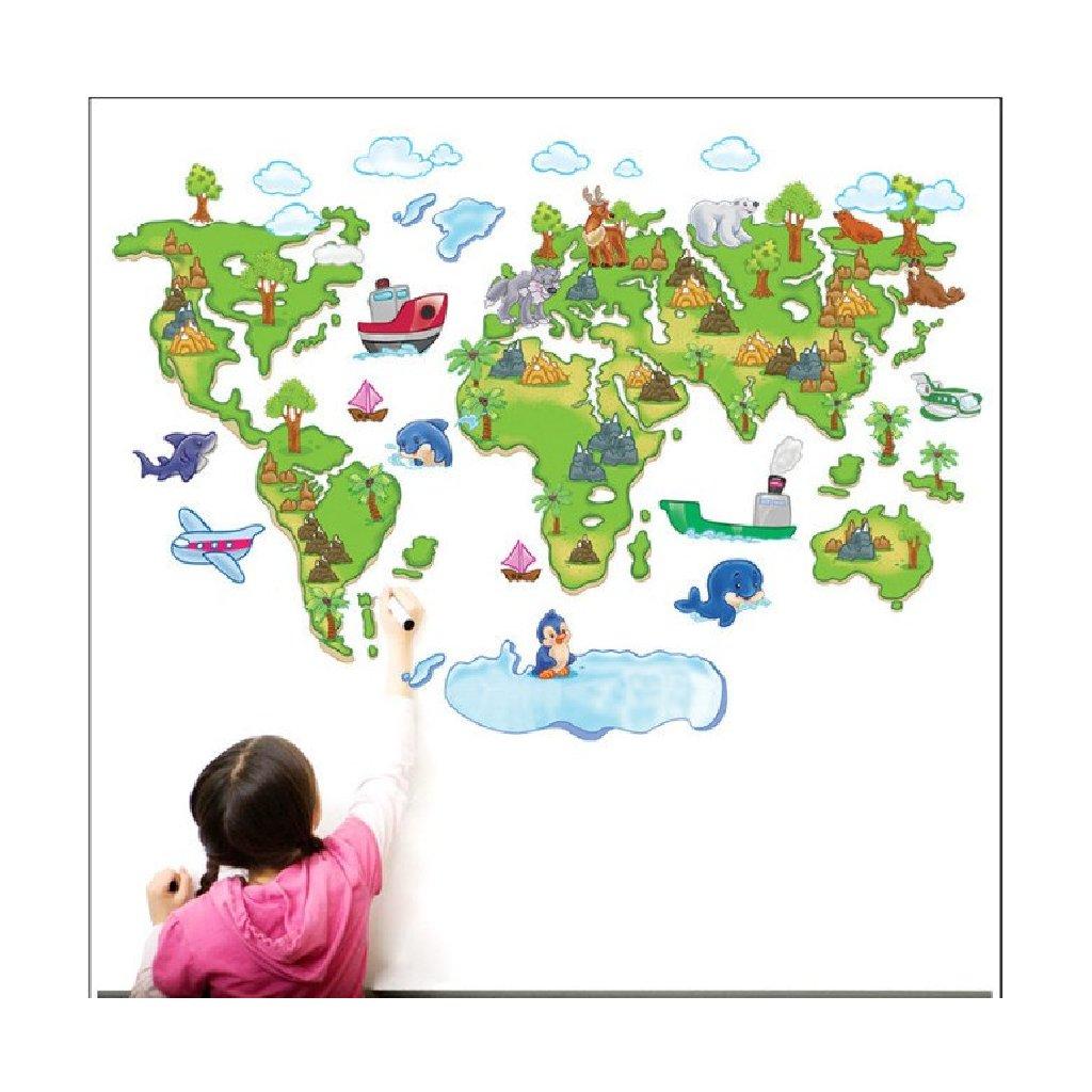Samolepka na stenu Detská mapa Sveta pre deti