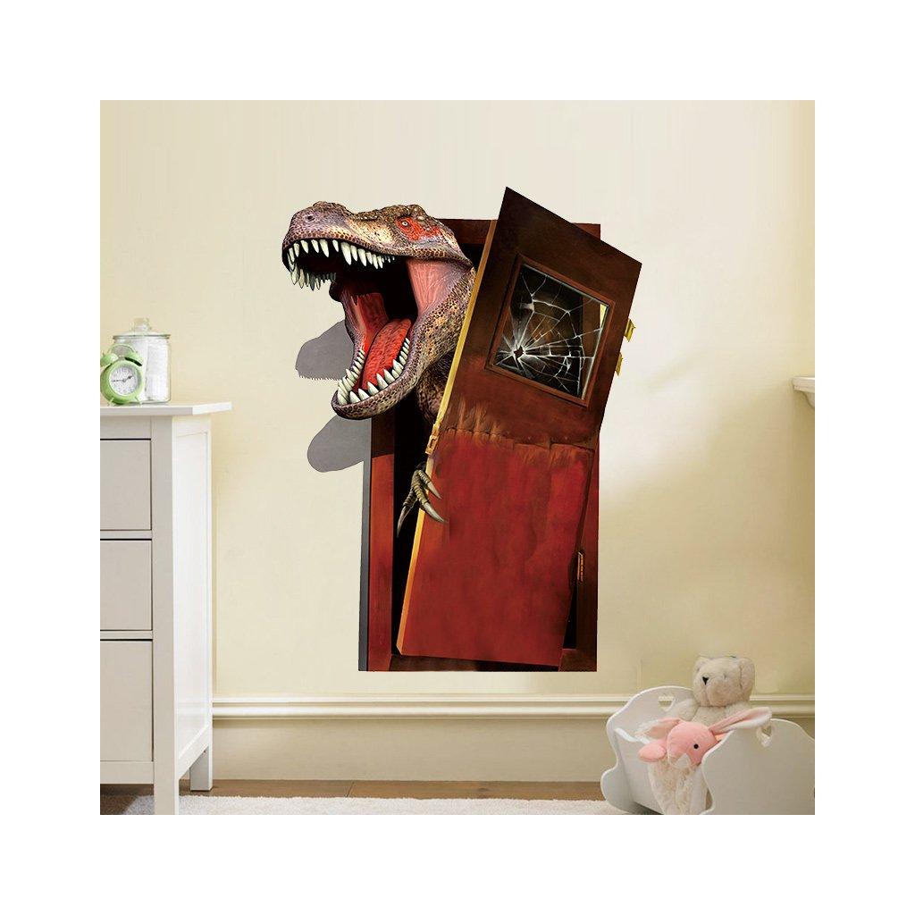 samolepka Dinosaurus láme dveře