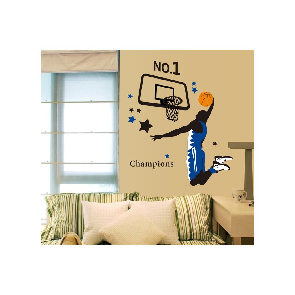 Samolepka na stenu Hráč basketbalu