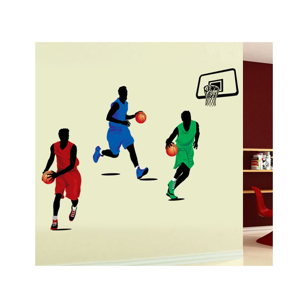 Samolepka na zeď Hráči basketbalu