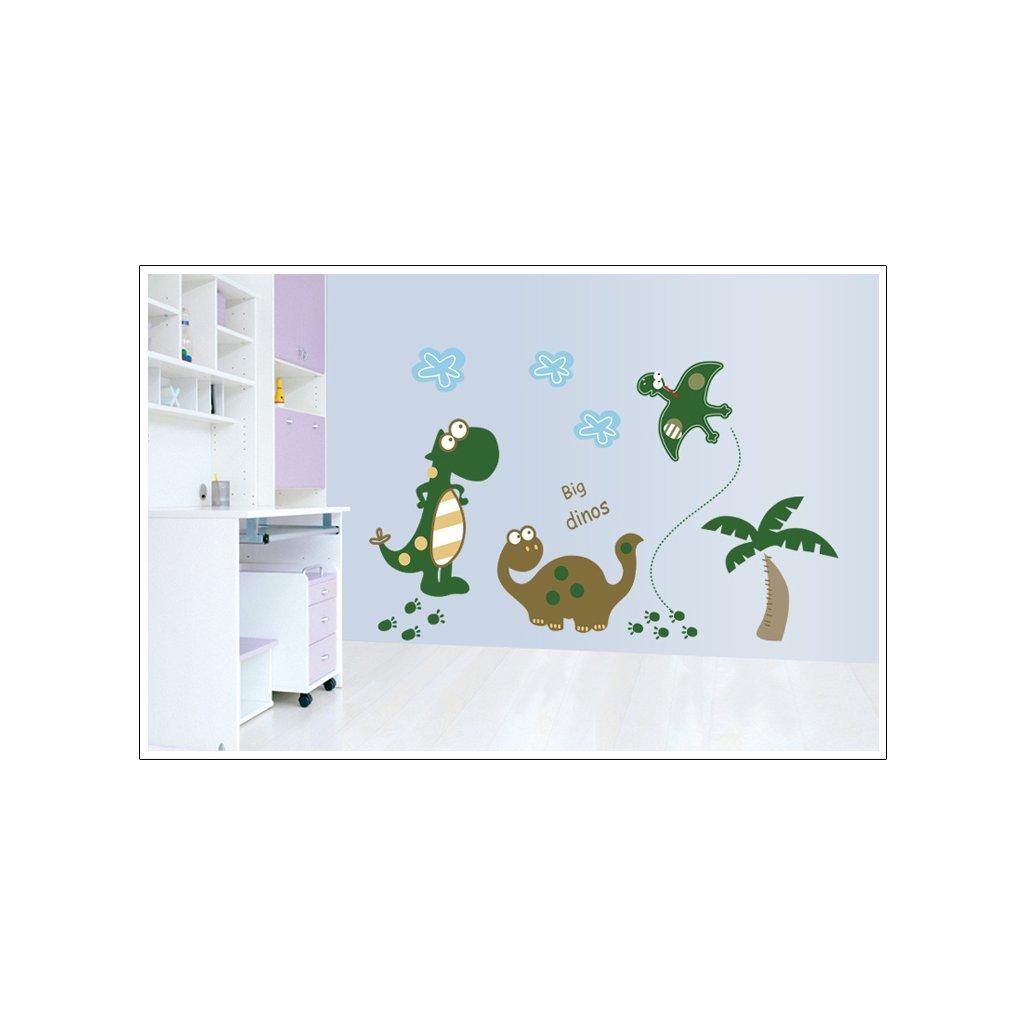 Samolepka na stenu Kreslené Dinosaure