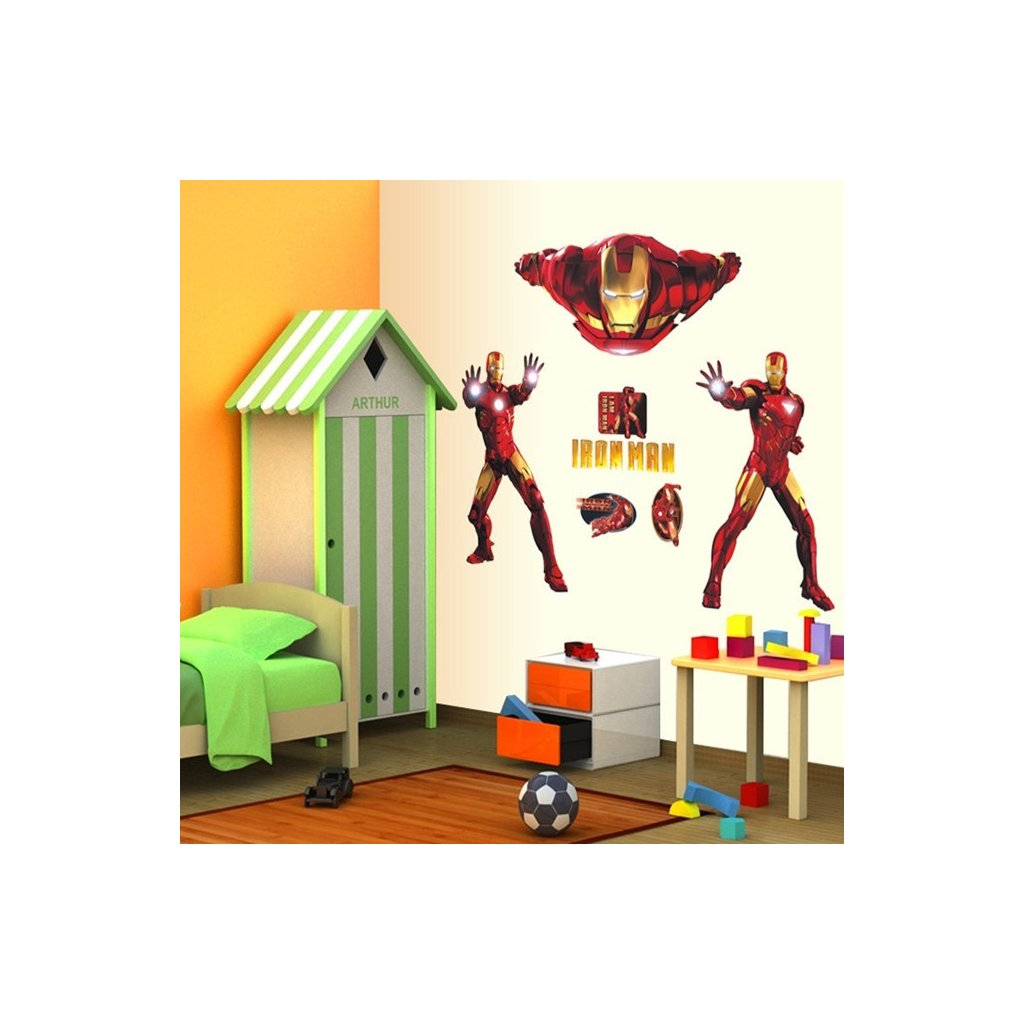 3D Samolepka Iron Man