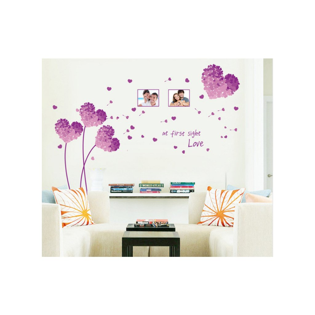 Samolepka na stenu Kvety lásky
