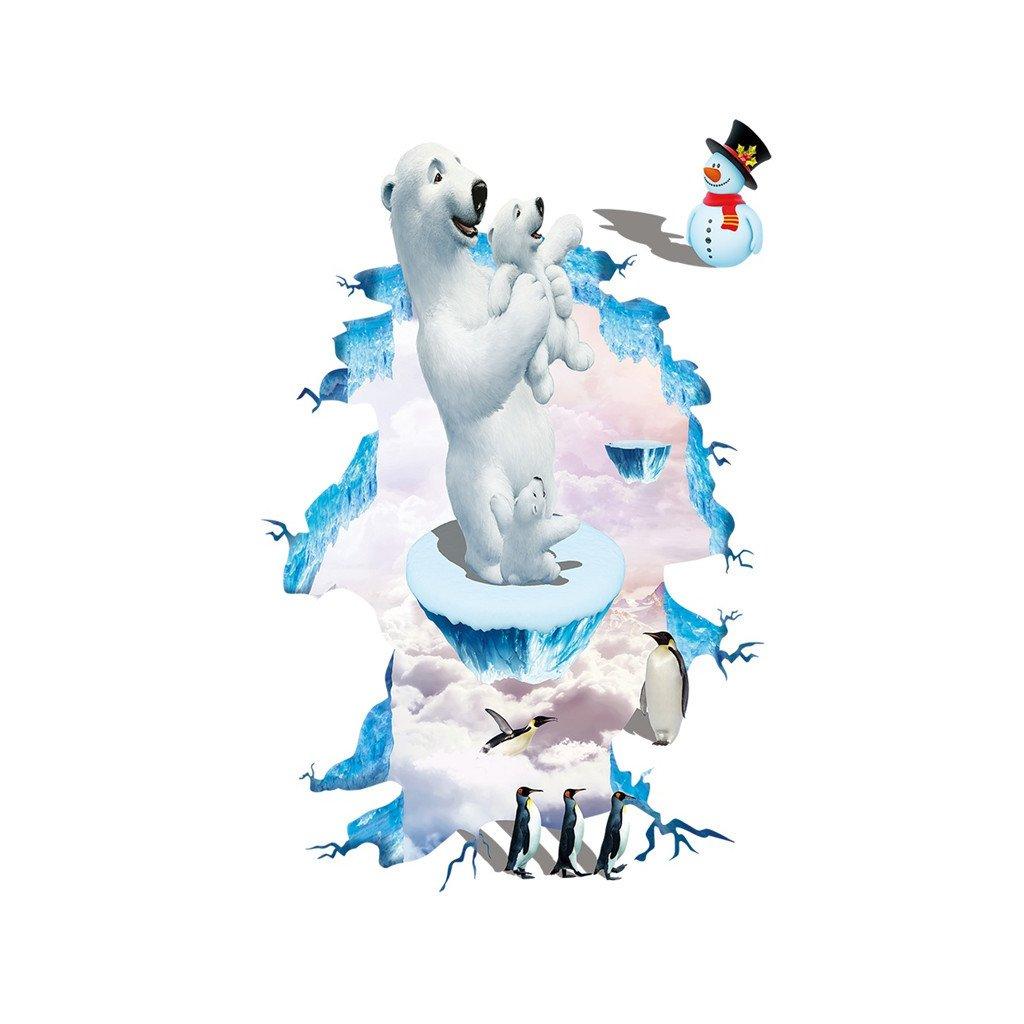 samolepka na stenu Ľadové medvede