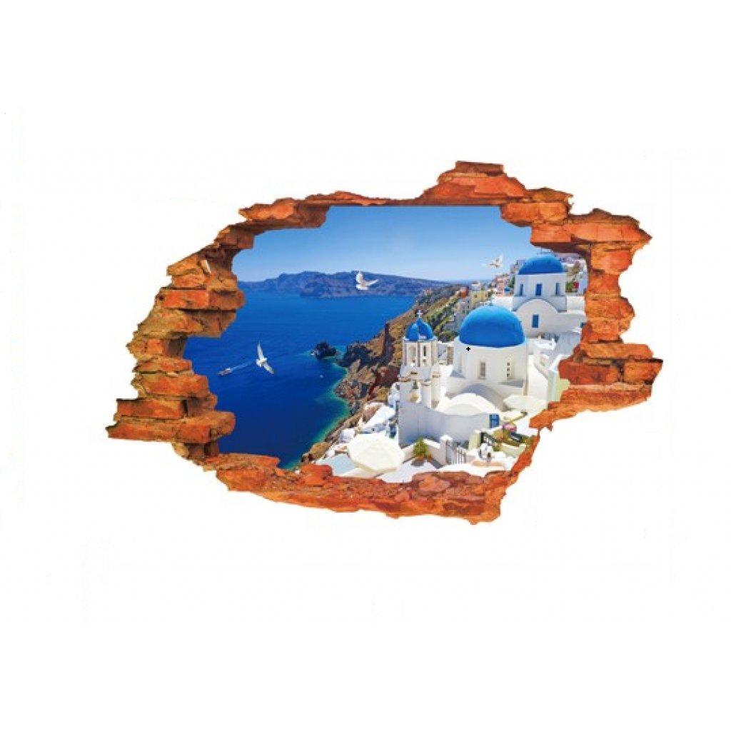 3D Samolepka Výhľad na Grécko