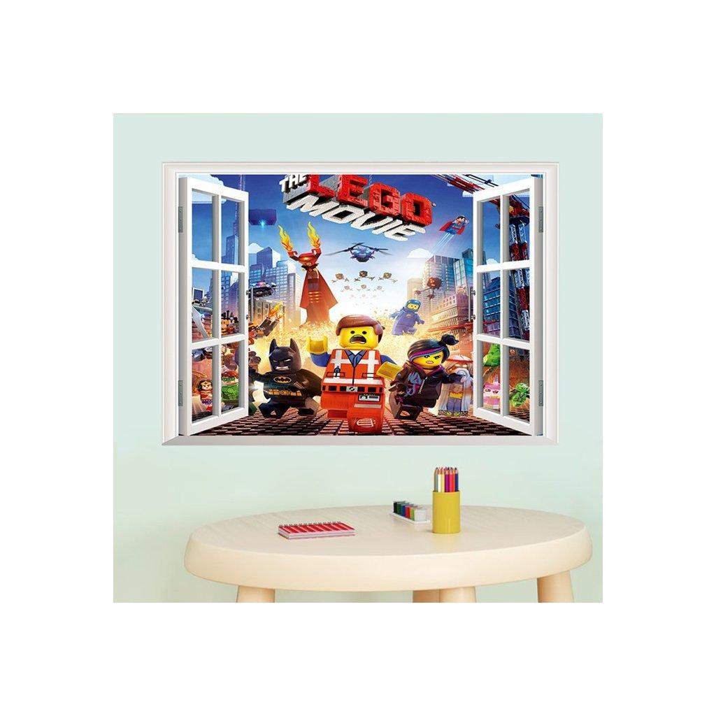 Samolepka  na stenu Lego príbeh