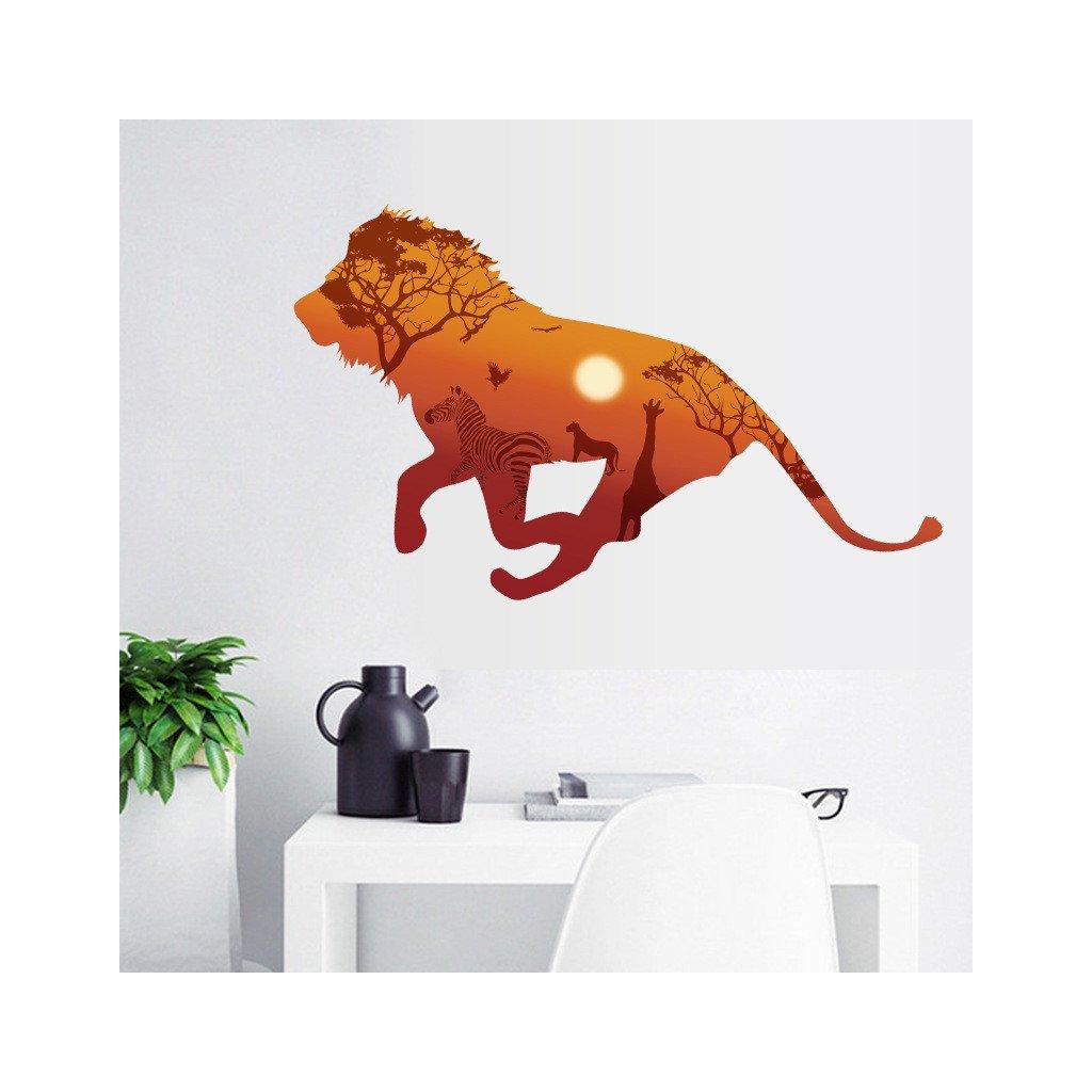 Samolepka na stenu Lev