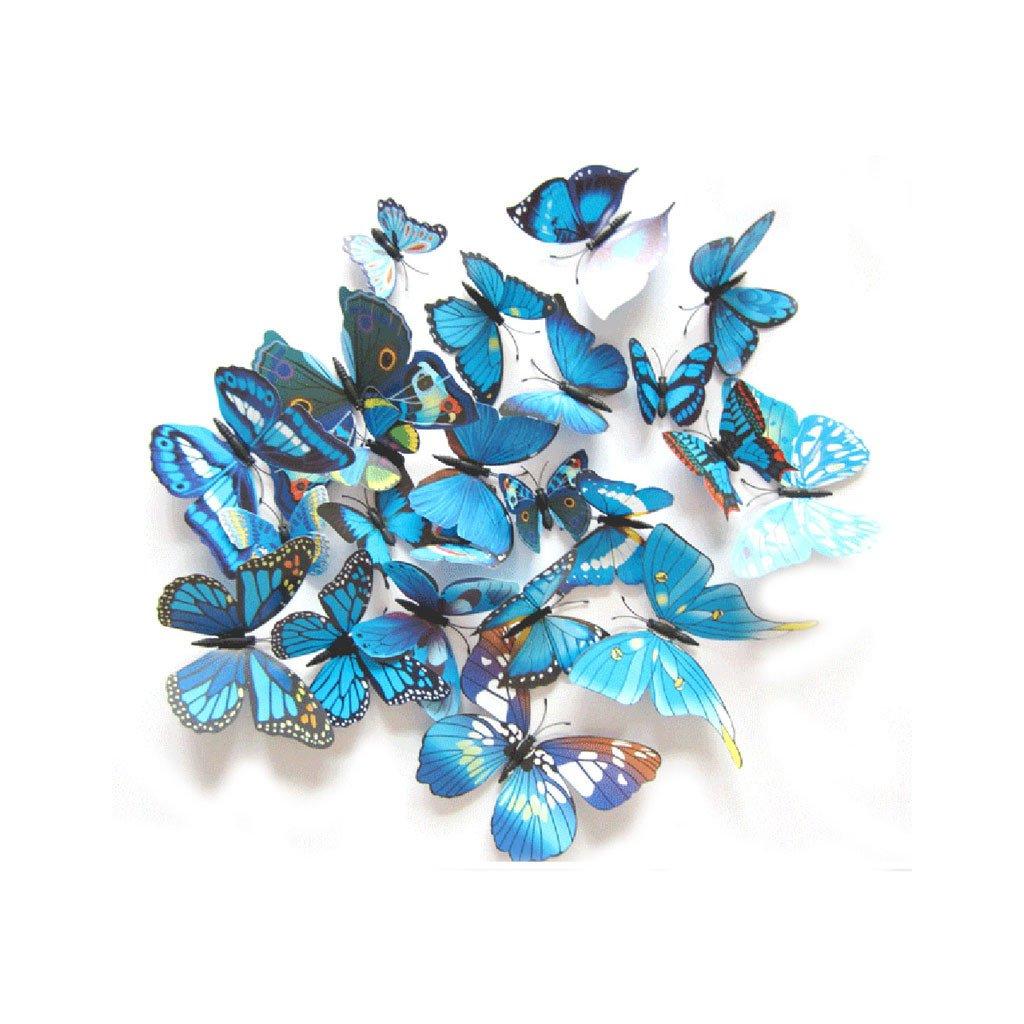 Motýliky magnet a samolepka Modré