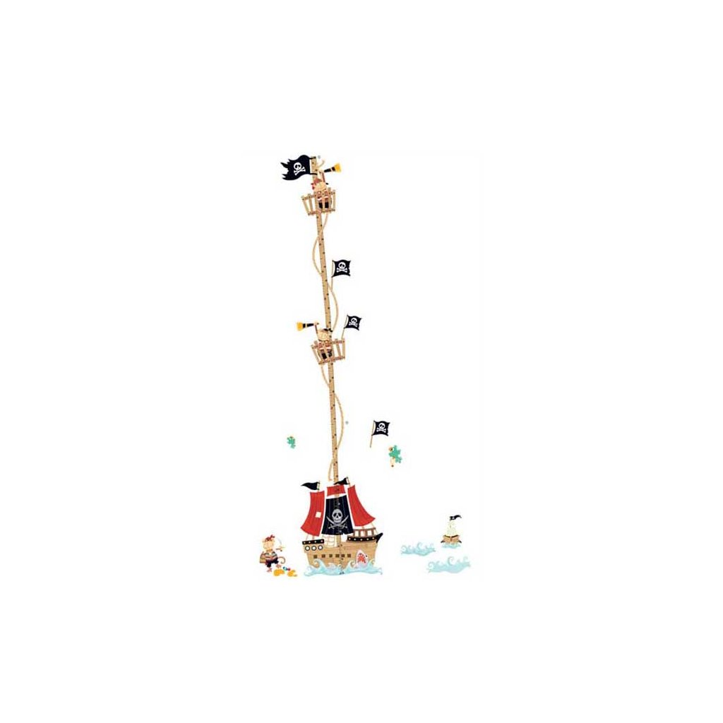 Samolepka na stenu meter Pirátska loď