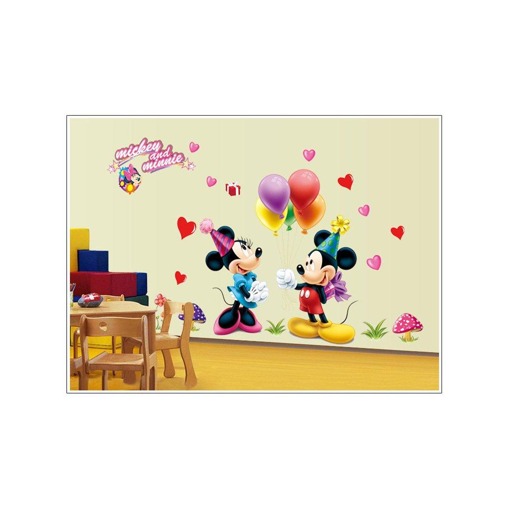 samolepka na stenu Mickey Mouse a Minnie