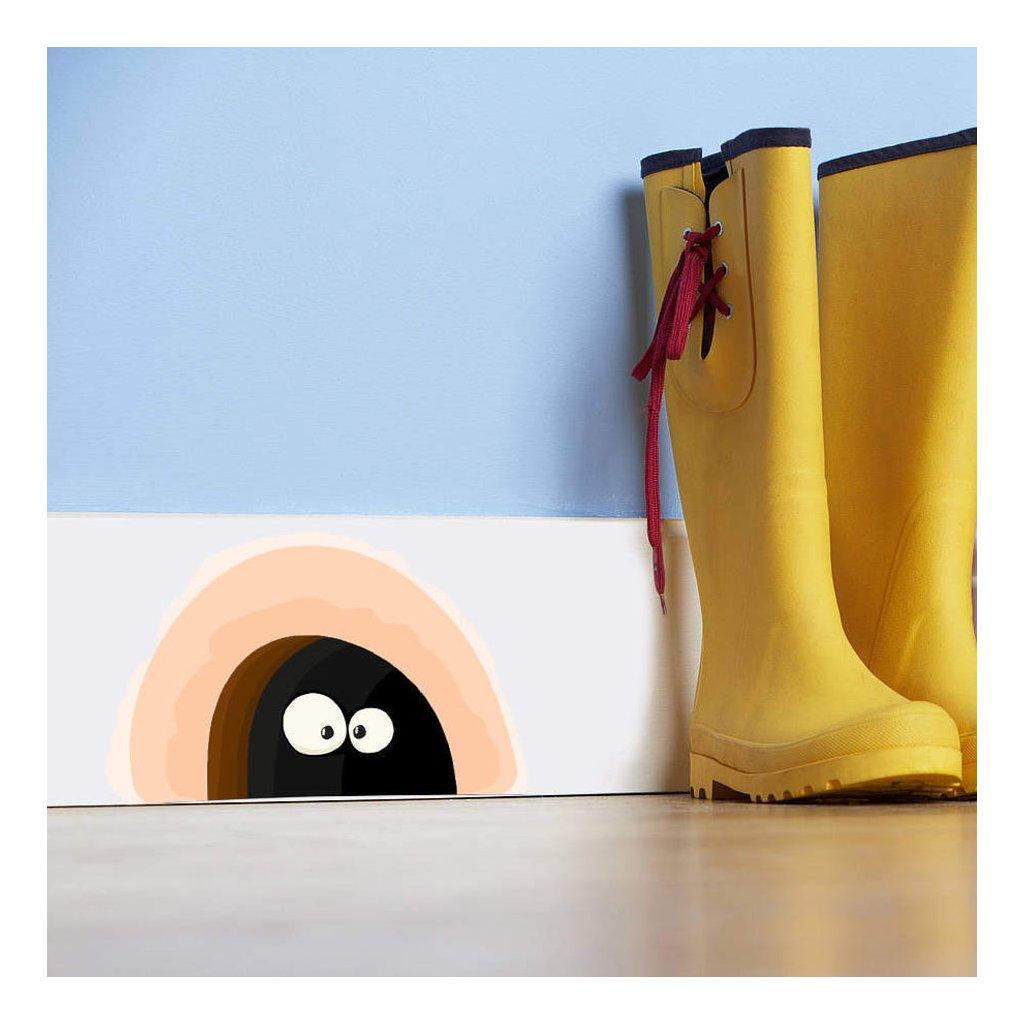 Samolepka na stenu Myšia diera s očami