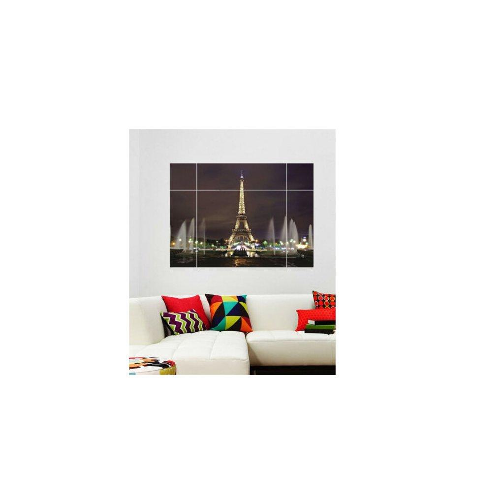 samolepka na stenu Okno s výhľadom na Eiffelovu vežu