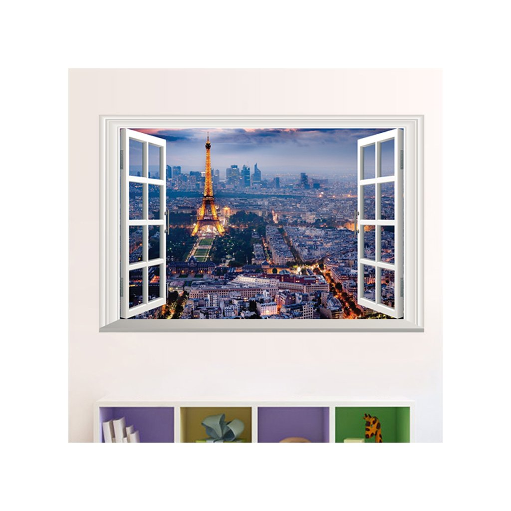 samolepka Okno s výhľadom na Paríž