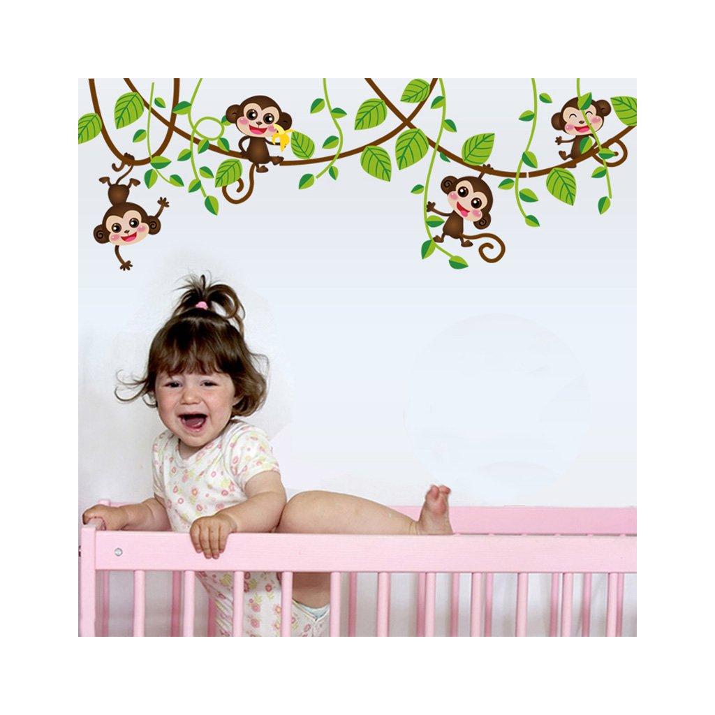 samolepka na stenu Opice na liane