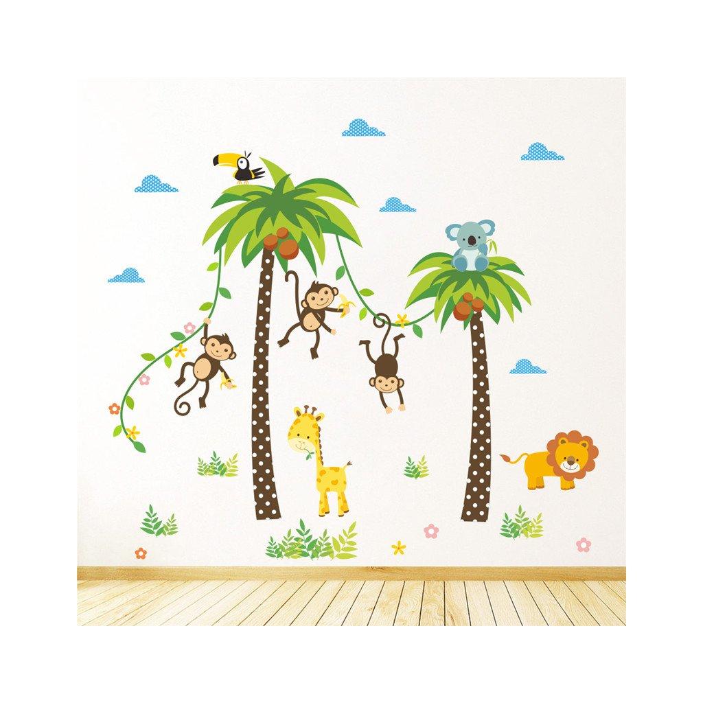 samolepka na stenu Opičky na palme