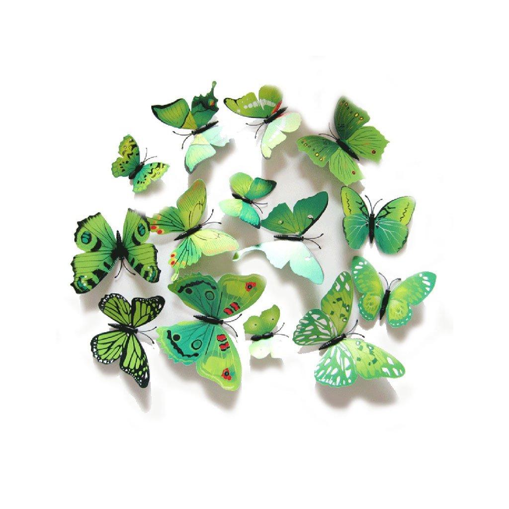 Motýliky magnet a samolepka Zelené
