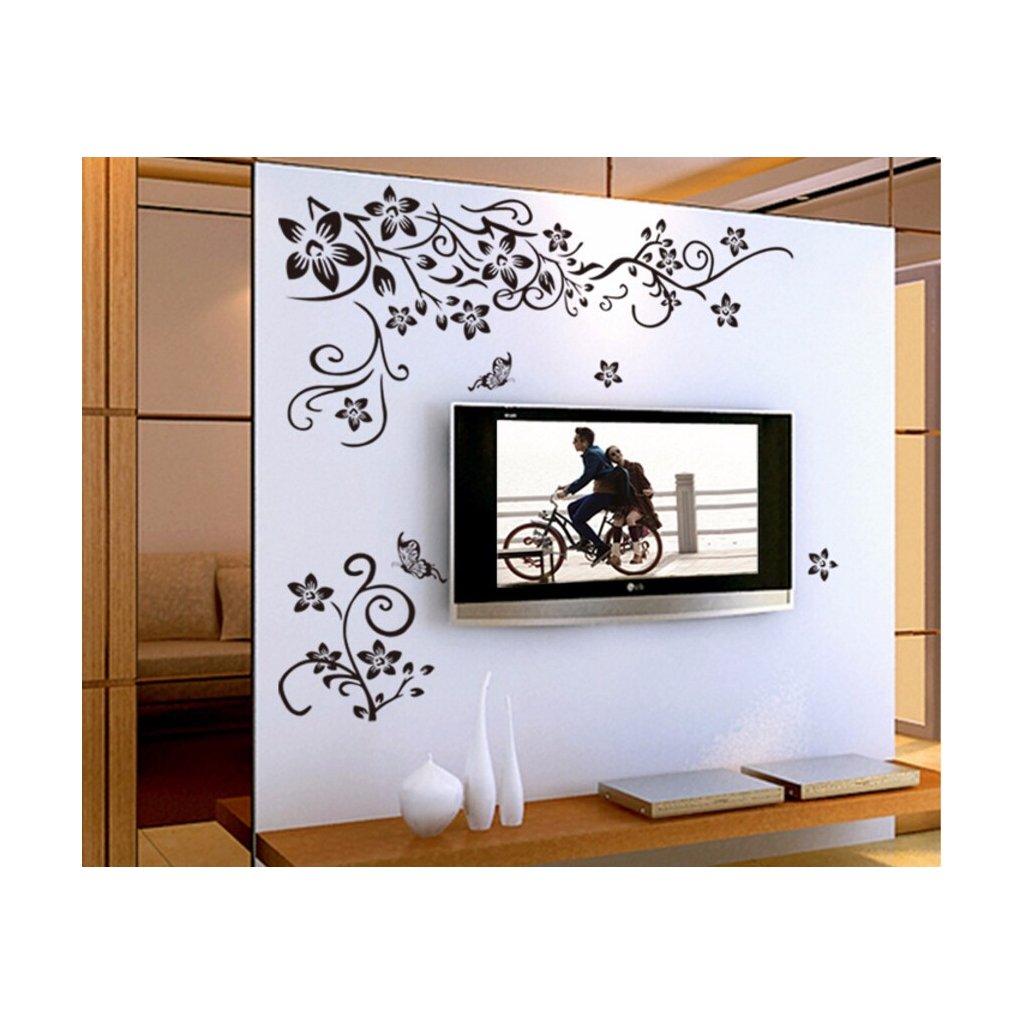 samolepka na stenu Plaziace sa kvety