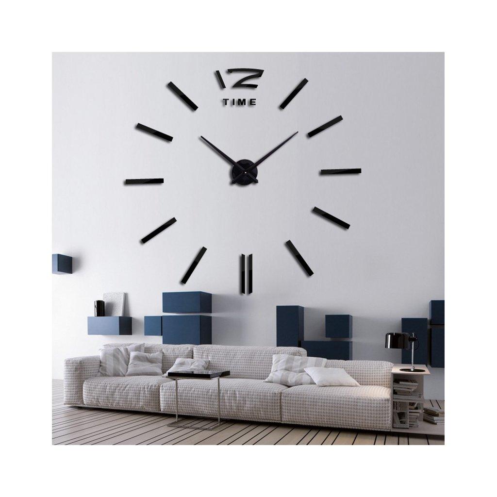 Moderné veľké nástenné hodiny s odrážkami bez čísiel