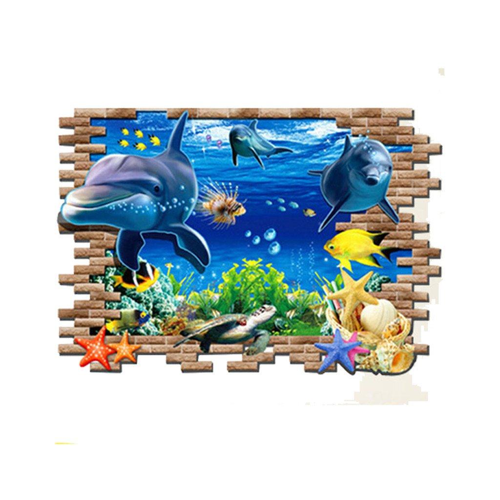 Samolepka Roztomilé delfíny