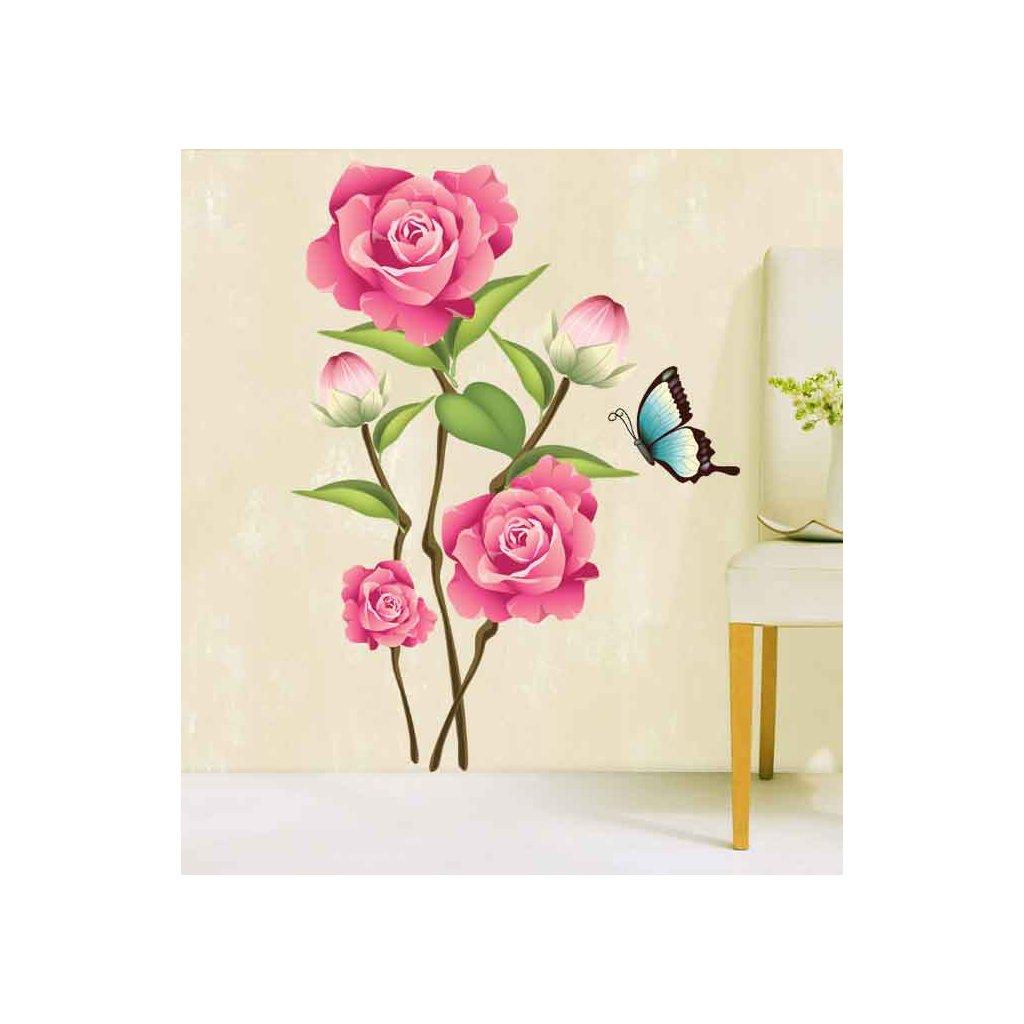 Samolepka Ružové ruže
