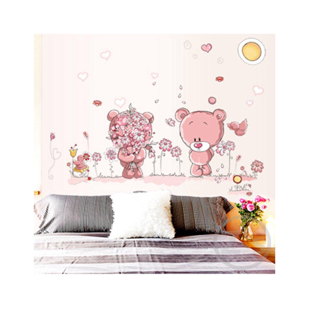 Samolepka Ružové medvedíky