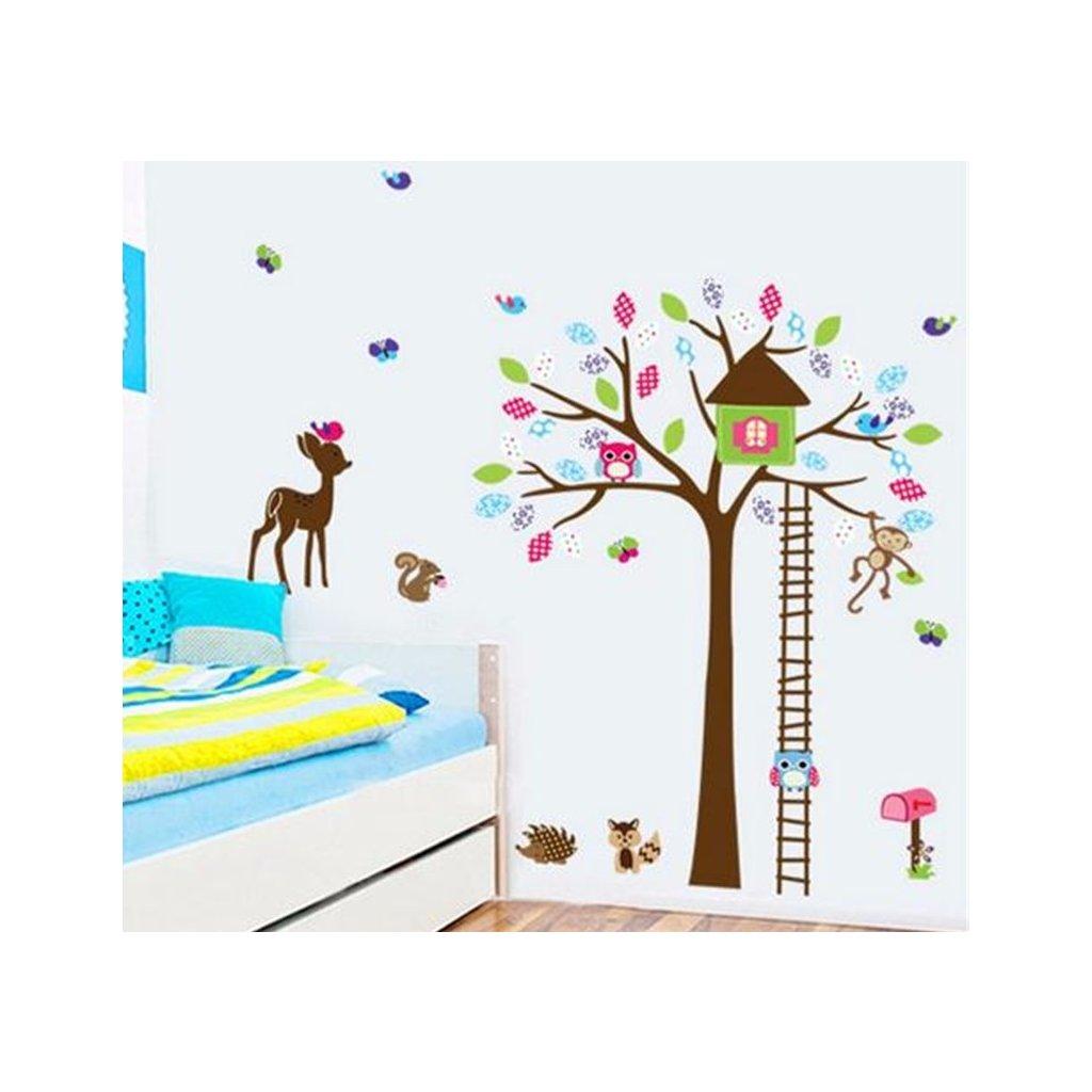 Samolepka Strom a lesné zvieratká