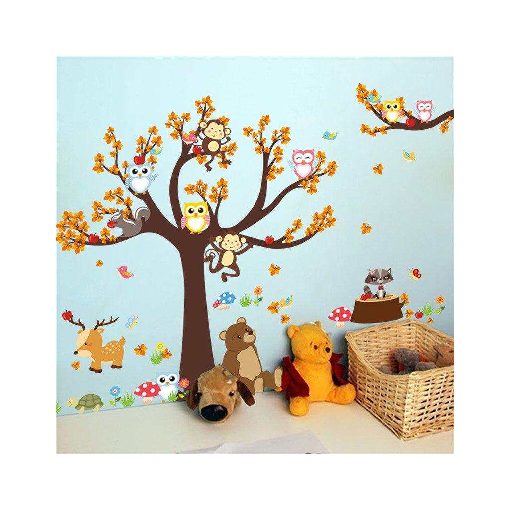 Samolepka Strom a zvieratká