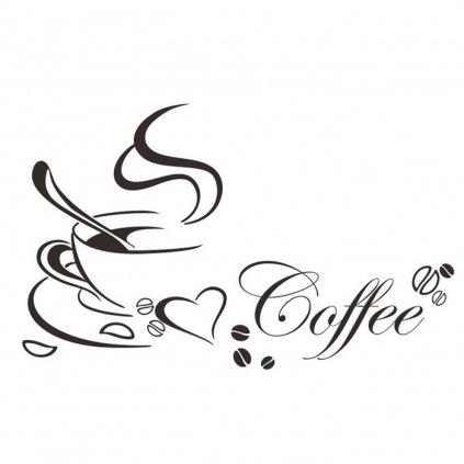Samolepka Šálka kávy