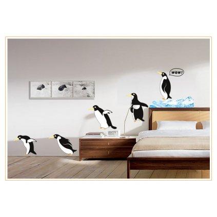 Samolepka Tučniaci na prechádzke