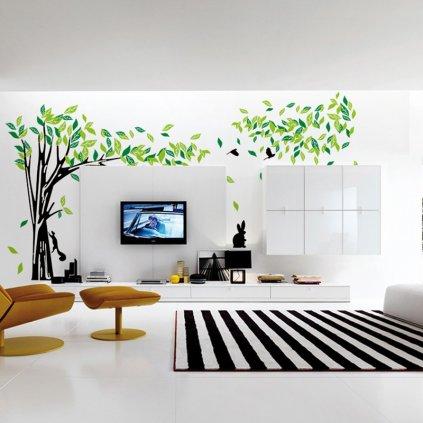 Samolepka Veľký zelený strom