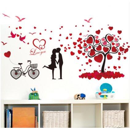 Samolepka na stenu Zamilovaný pár