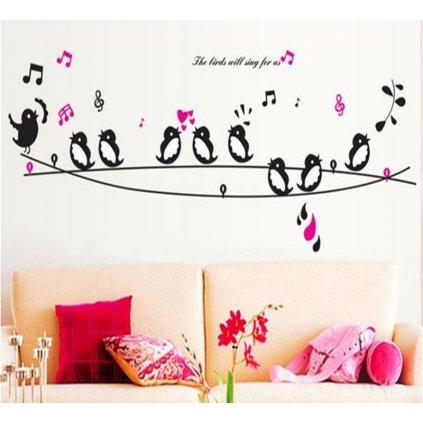 Samolepka Spievajúce vtáčiky