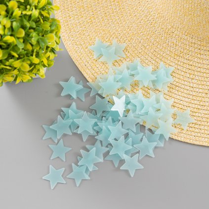 Svietacie fosforové modré hviezdičky 80 ks