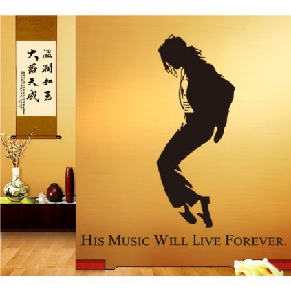 Samolepka na stenu Michael Jackson