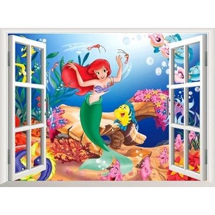 samolepka Ariel morská panna