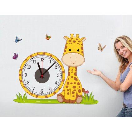 Samolepiace detské hodiny Žirafa