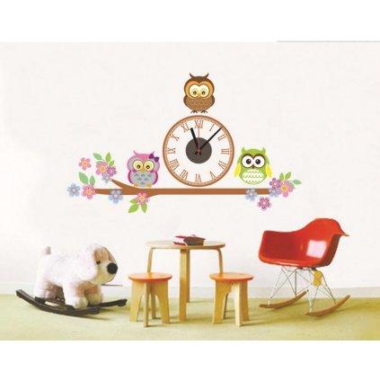 Samolepiace detské hodiny Malej sovy