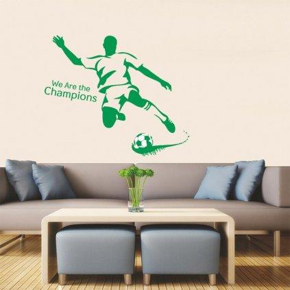 Samolepka na stenu Zelený futbalista