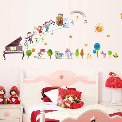 Samolepka na stenu Detská kapela