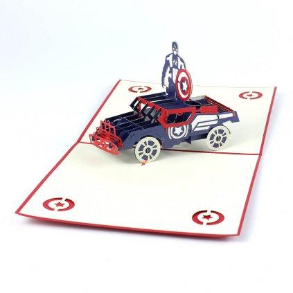3D prianie Kapitán Amerika