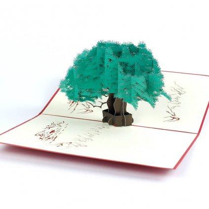 3D prianie Zelený strom