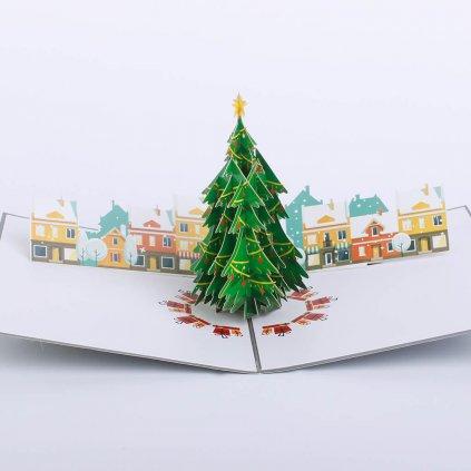 3D prianie Vianočné mestečko