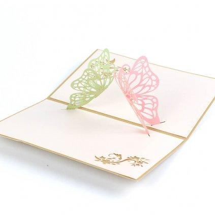 3D prianie Poletujúce motýle