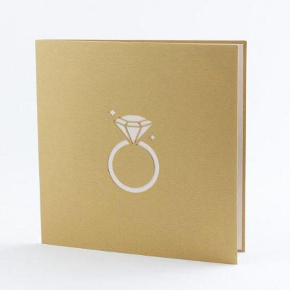 3D prianie Zásnubný prsteň