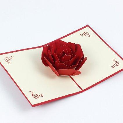 3D prianie Kvet ruže