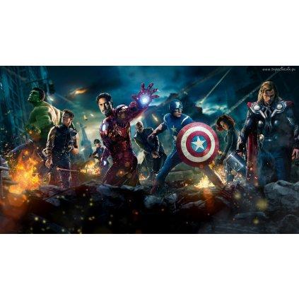 samolepka Avengers, Hulk, Hawkeye, Iron Man, Nick Fury, Kapitán Amerika, Black Widow a Thor