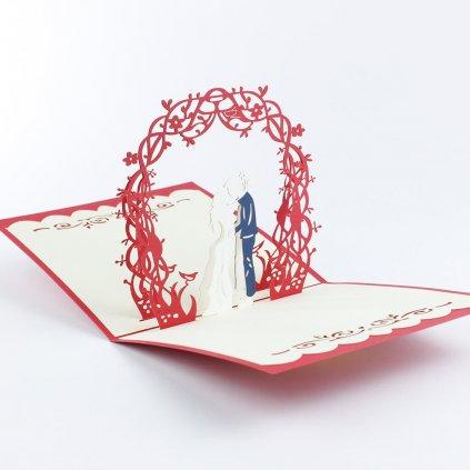 3D přání První manželský polibek