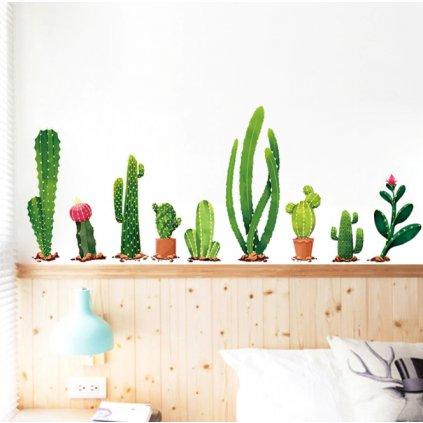 Samolepka na stenu Kaktusy