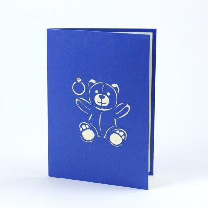 3D prianie Medvedík k zásnubám