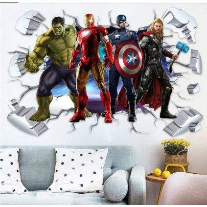 Samolepka na stenu Avengers hrdinovia